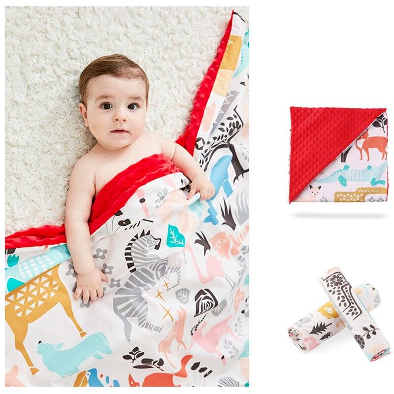 Mantas de bebé de doble capa, forro polar de Coral, bolsa de dormir infantil, juguetes de bebé, manta para bebé, accesorios de foto, manta de cama