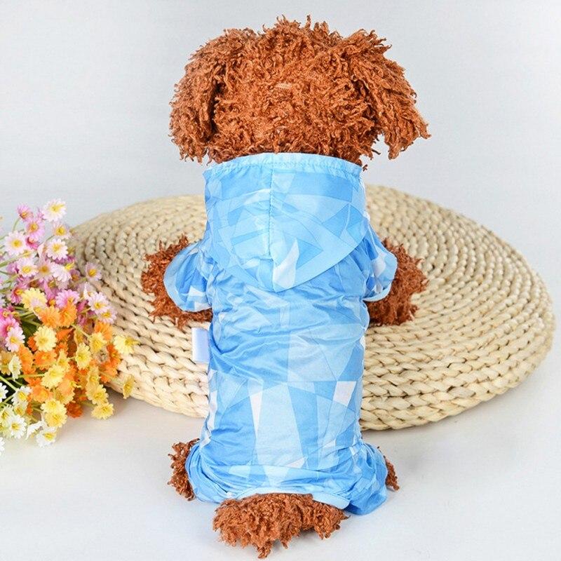 Verano mascota cuatro pies impermeable chubasquero para perro mascota a prueba de...
