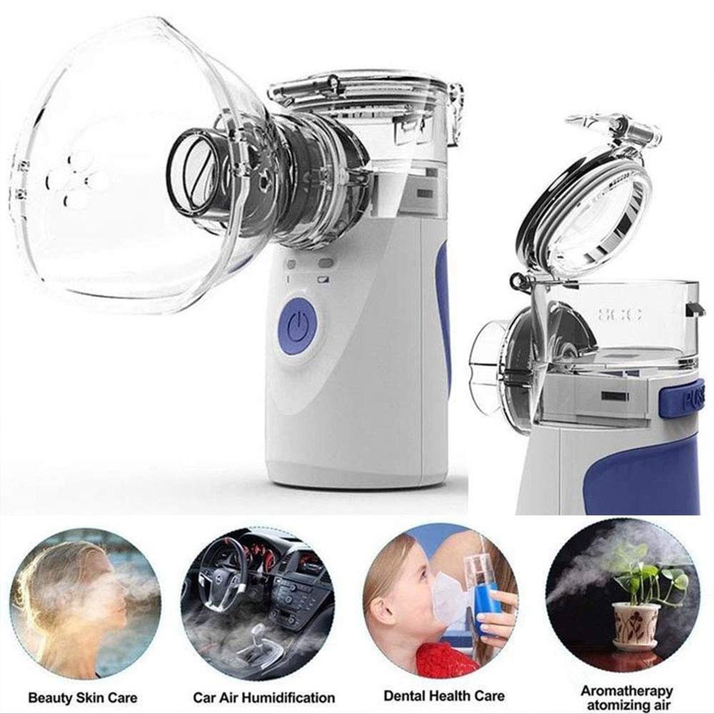 Portable Silent Ultrasonic Inhaler Nebulizer Rechargeable Medical Steaming Atomizer Mini Handheld Inhaler Nebulizer Healthy Care недорого