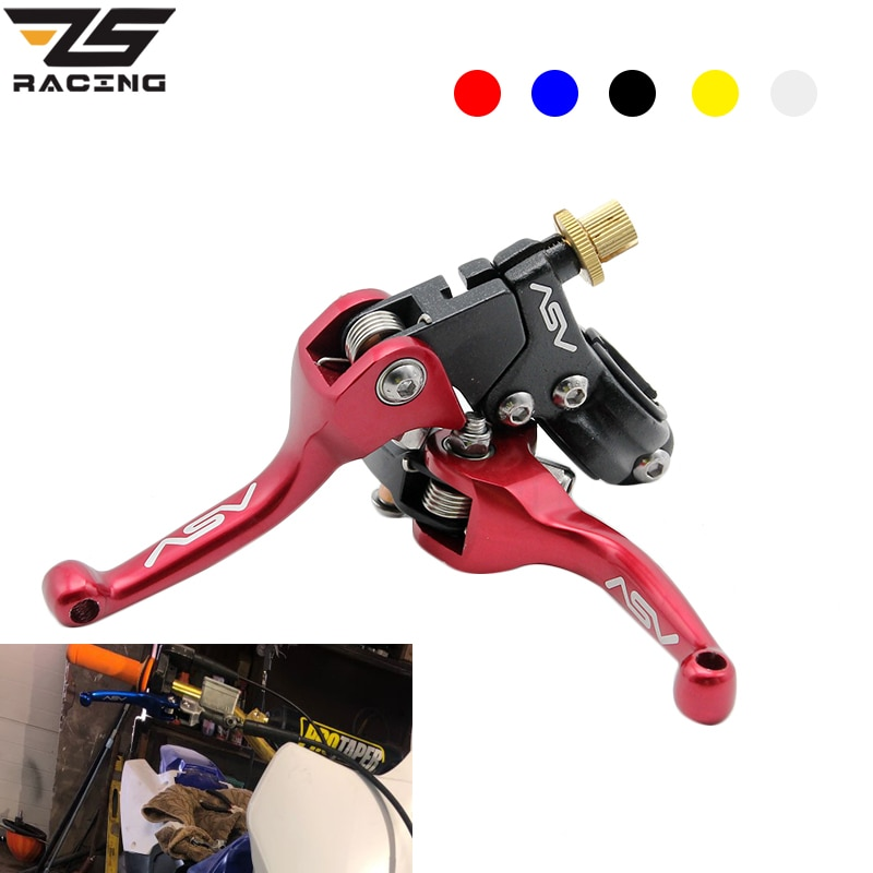 ZS Racing 22mm CNC ASV F3 Brake Clutch Levers Foldable For Honda Yamaha Kawasaki Suzuki Motorcycle Pitbike Dirt Pit Bike