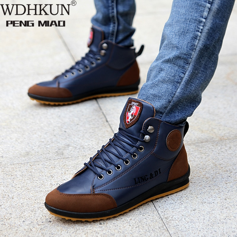 Men's Boots Spring And Autumn Winter Shoes Large Size B Department Botas Hombre Leather Boots Shoes