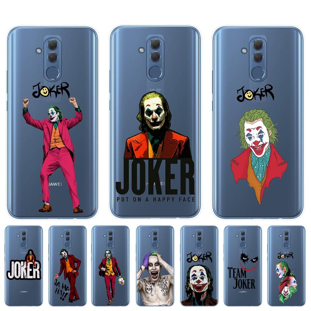 2019 película de terror Joker Joaquín Phoenix suave funda silicona transparente de teléfono para Huawei Mate 10 20 30 P20 P30 Lite Pro funda Coque