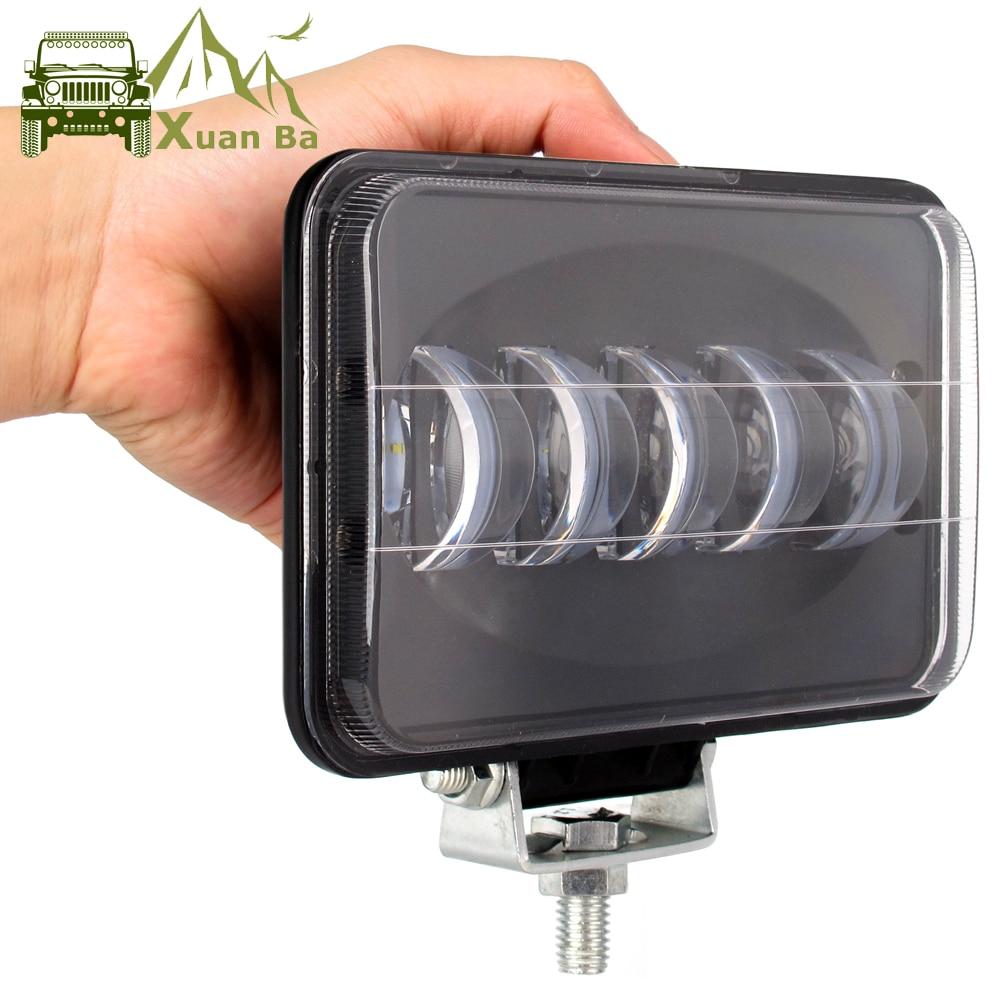 6D Lens 6 Inch Square Led Work Light For Trailer 4WD ATV SUV UTV Trucks 4x4 Off road Tractor Working Driving Lights Headlight