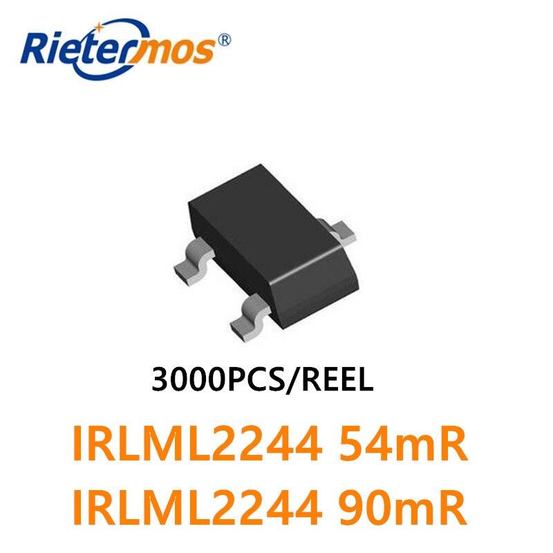 3000PCS IRLML2244TRPBF IRLML2244PBF IRLML2244 SOT23 PMOS 20V