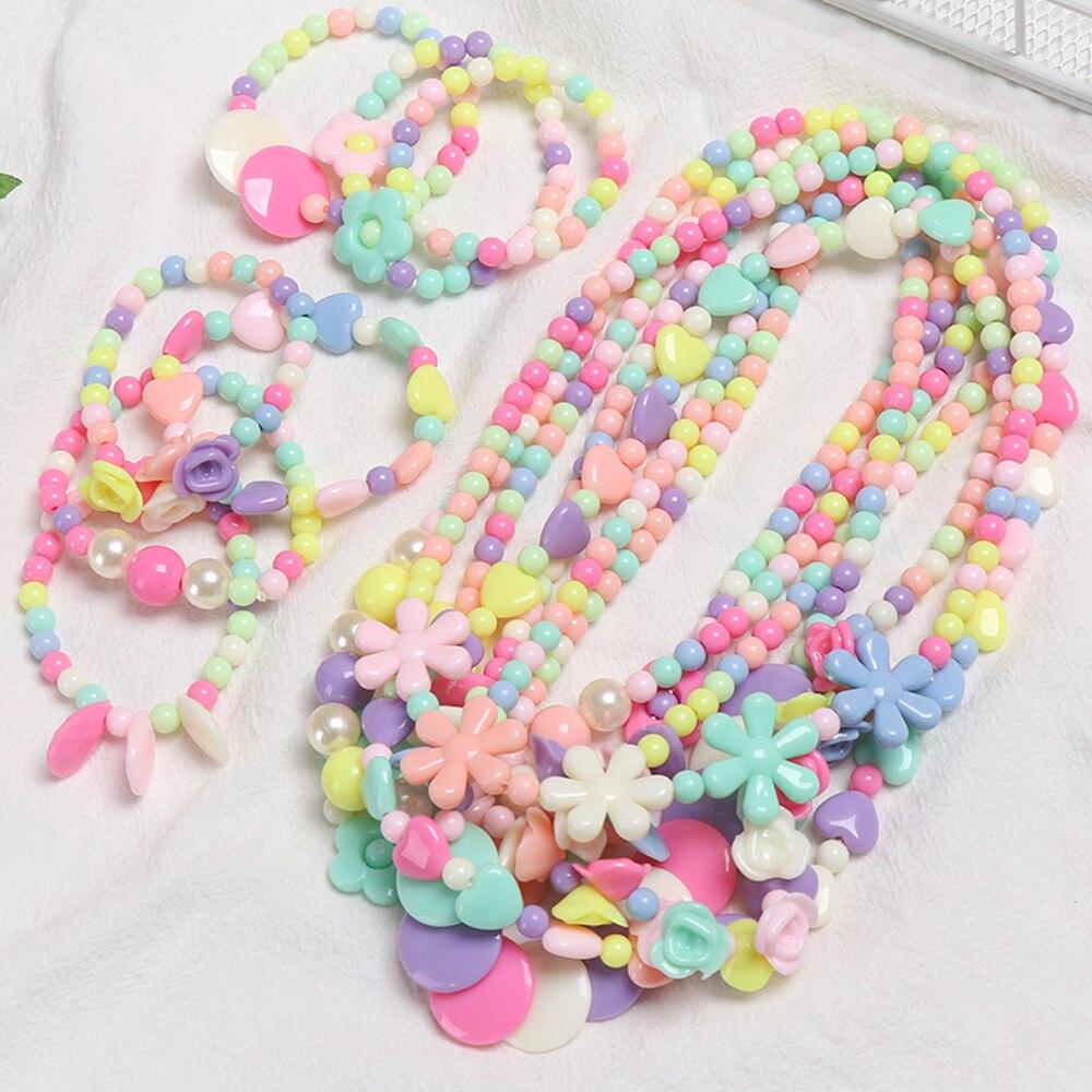 Бусы для девочек, игрушки, ожерелье, браслет, бабочки, цветы, детское ожерелье ручной работы, аксессуары, принцесса, детские подарки на день р... шуман р бабочки детские сцены арабески cd