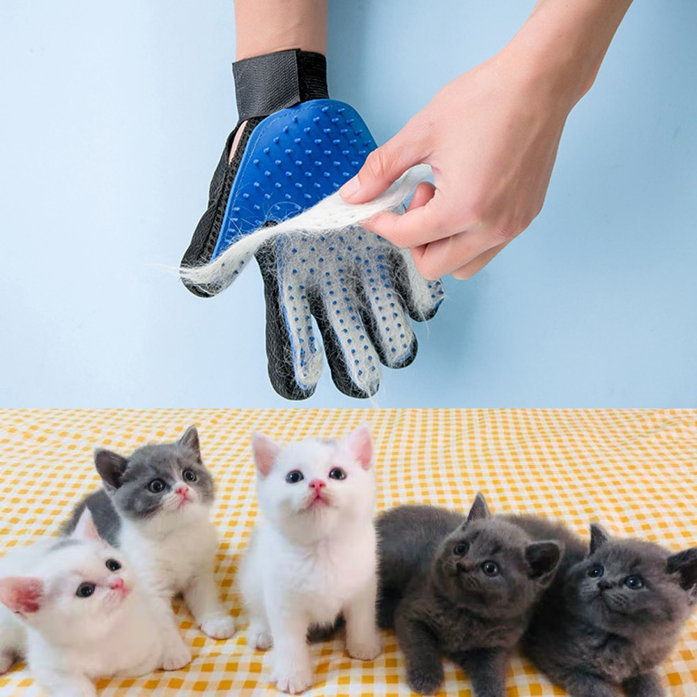 Cat Grooming Glove For Cats Wool Pet Hair Deshedding Brush Comb Cleaning Massage Dogs Supplies