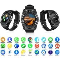2021 v8 smart watch support sim tf card camera smart warch men smart watch women relogio inteligente kids smartwatch free shippi