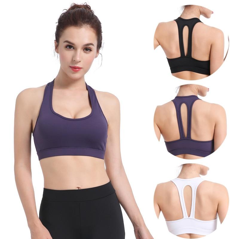 Купить с кэшбэком Yoga fitness sports underwear high-strength shock-proof support gathered anti-sagging quick-drying bra