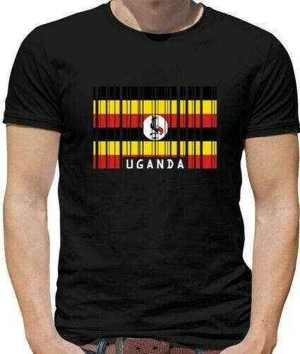 Uganda Barcode Flag Mens T-Shirt - Kampala - Africa - Country - Flags - Travel