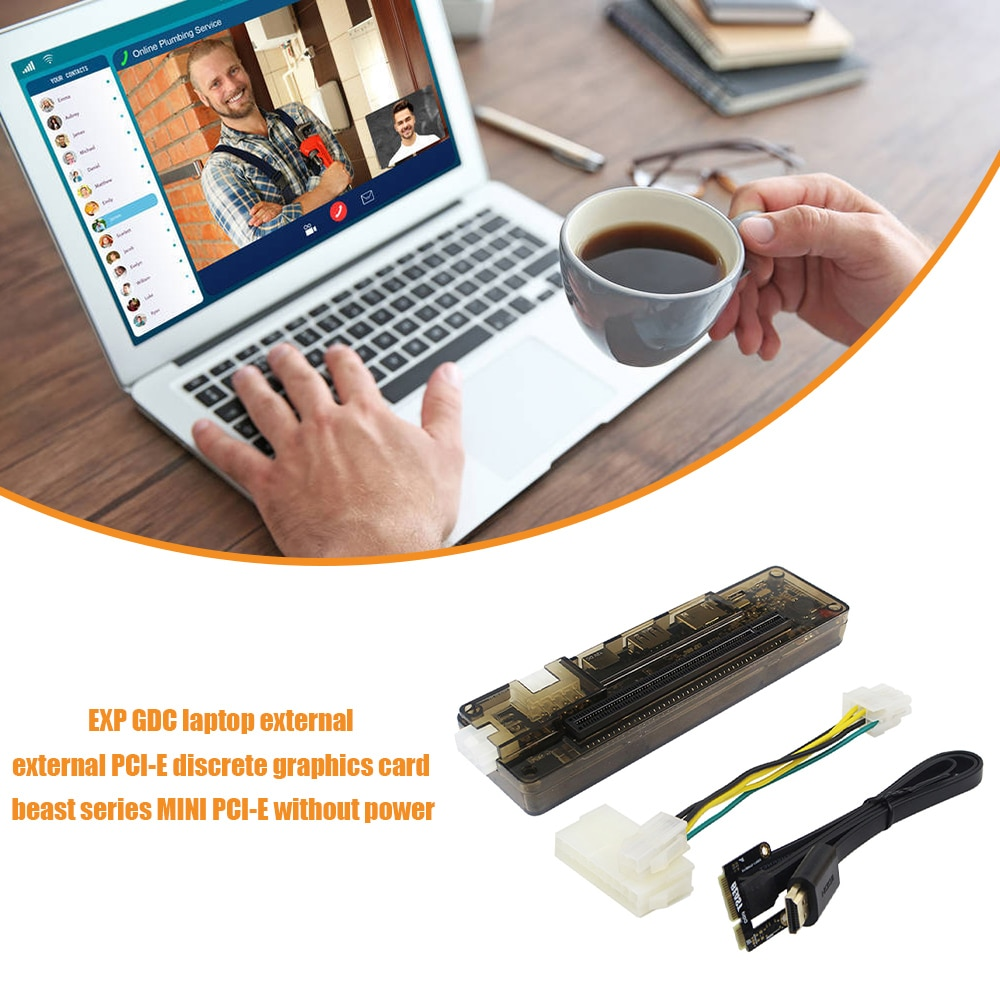 EXP GDC خارجي محمول بطاقة فيديو قفص الاتهام بطاقة جرافيكس محمول محطة إرساء صغيرة PCI-E اكسبرسكارد واجهة الإصدار