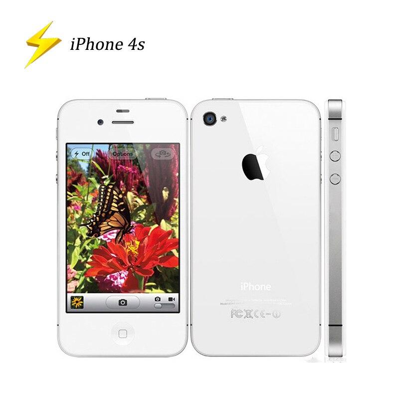 Original Used Apple IPhone 4s 3.5inch 8/16/32/64GB Factory Unlocked Smart Mobile Phone Dual-Core 8MP Camera WIFI GPS