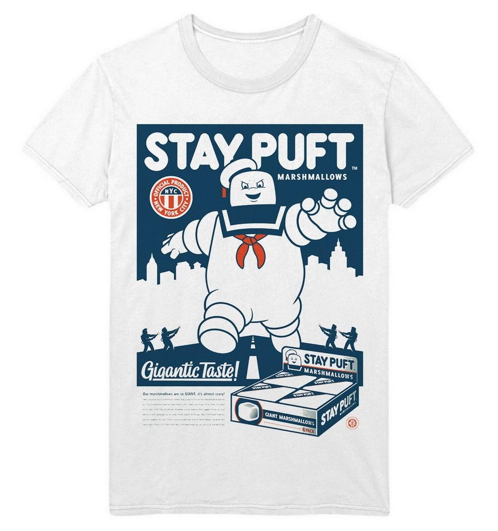 STAY PUFT MARSHMALLOWS cazafantasmas PH712 MR STAY PUFT UNISEX camiseta blanca modelos básicos Tops camiseta