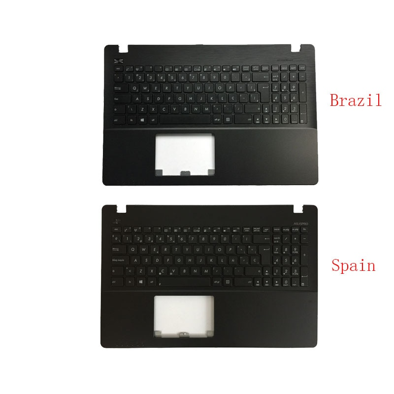 Brasil/español teclado del ordenador portátil para ASUS F552CL F552E F552EA F552EP F552L F552LAV F552LD F552M F552MD F552MJ Palmrest cubierta superior