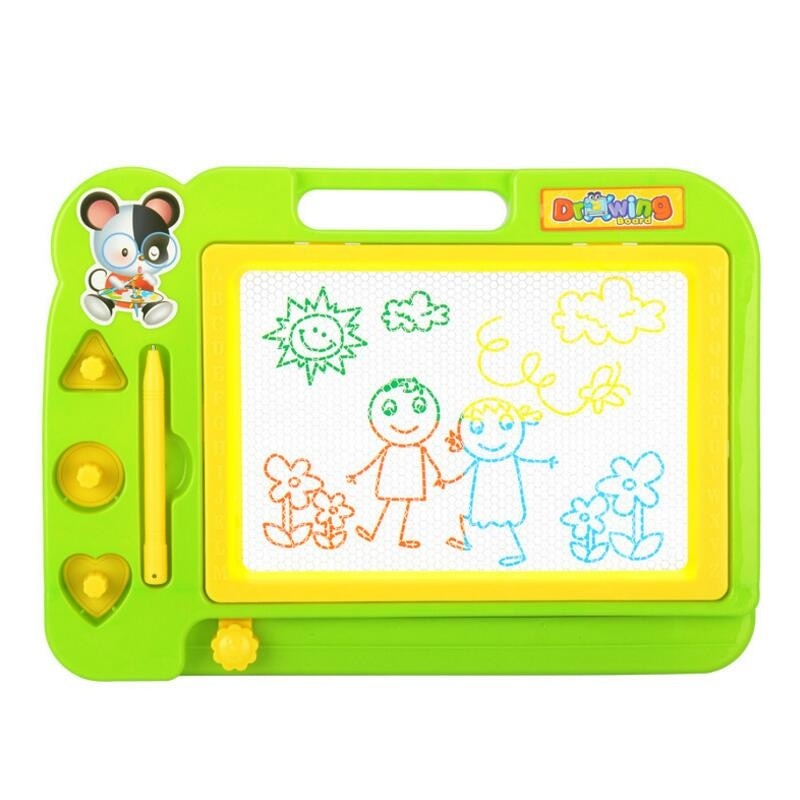 Children creativity written stencil painting of magnetic plastic set drawing board learning educational toys graffiti blackboard wood figurines easel racks double sided magnetic small blackboard brackets baby painting board wooden drawing educational toys