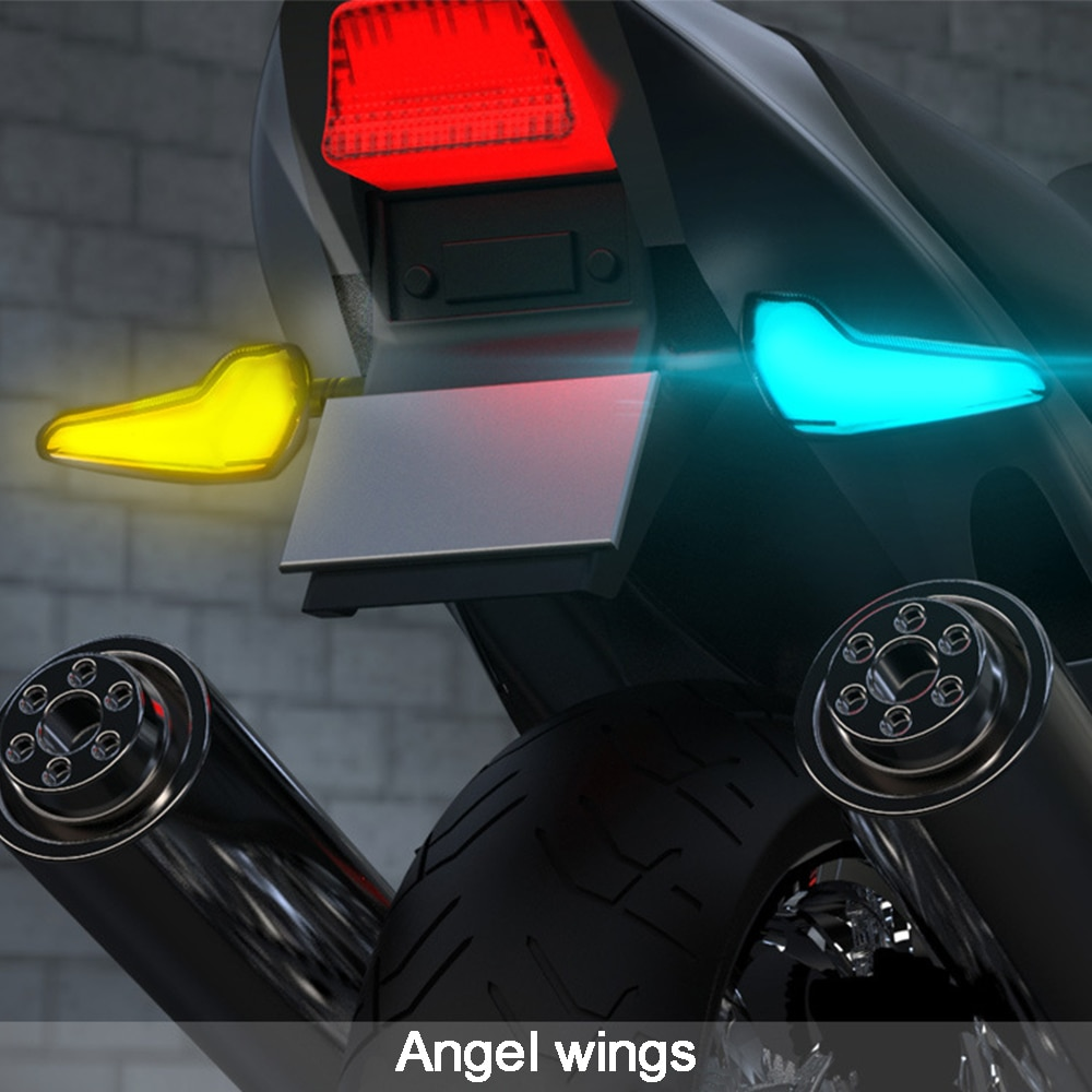 Ange aile 12V Led moto clignotant frein indicateur clignotant pour Kawasaki Vespa BMW KTM Ducati Yamaha Suzuki Honda