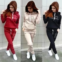 two piece set women hoodies and pants female tracksuit hooded sweatshirt causal autumn spring outfits suit clothes size s 4xl
