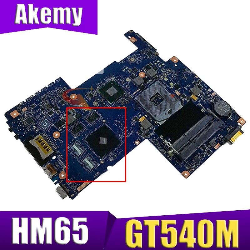 AKEMY H000036040 لأجهزة الكمبيوتر المحمول توشيبا الأقمار الصناعية C670 L750 L755 اللوحة الأم HM65 GeForce GT540M الرسومات DDR3