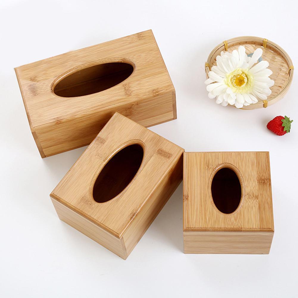 Caixa de armazenamento de tecido retangular cúbico de madeira caso de papel casa hotel guardanapo suporte para decoração de escritório em casa