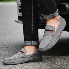 Suede Shoes For Men Autumn Genuine Leather Loafer Mocasin Men Original Footwear Slip-on Zapatos Homb