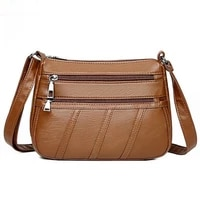 casual multiple pockets leather purses and handbags large capacity shoulder cross body bags for women 2020 waterproof designer