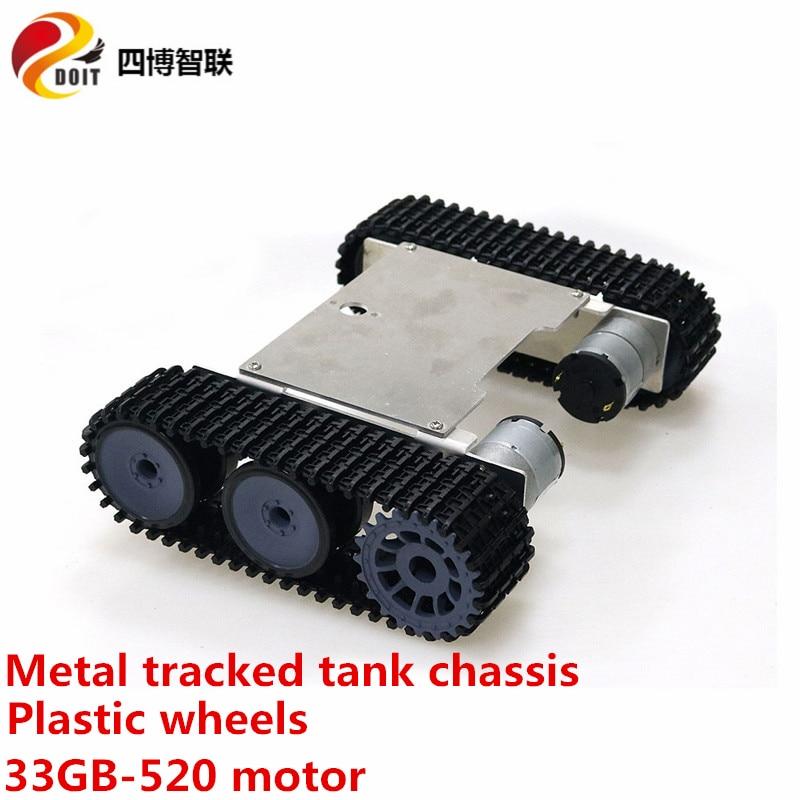 SZDOIT المعادن مجنزرة خزان هيكل عدة الذكية امتصاص الصدمات تجنب الزاحف RC روبوت الإطار 12 فولت موتور تيار مباشر لتقوم بها بنفسك لعبة اردوينو