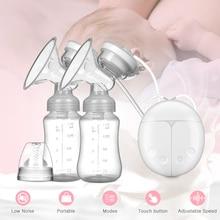 Extractor de leche eléctrico, bomba de leche manual de silicona unilateral y bilateral, accesorios de lactancia para bebés