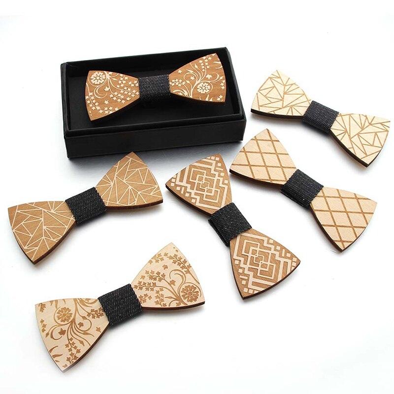 2021 модные стандартные галстуки-бабочки для джентльменов, галстуки-бабочки ручной работы с узором, уникальные деревянные галстуки-бабочки д...