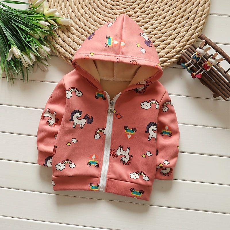 New Spring Autumn Fashion Baby Hooded Unicorn Sweater Toddler Baby Kids Boys Girls Sweatshirt Tops Clothes Casual Sweaters 0-6T spring autumn baby boys girls clothes toddler baby kids hooded cartoon 3d ear hoodie sweatshirt tops clothes infant clothing