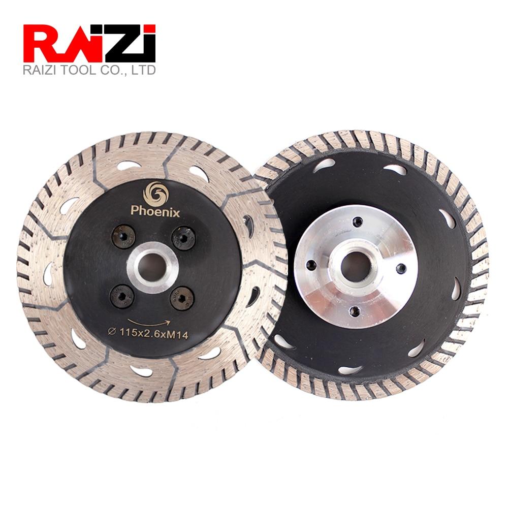 Raizi 2 Pc diamond cutting grinding disc for granite marble concrete 75/115/125 mm M14 sharpen diamond saw blade cut disc