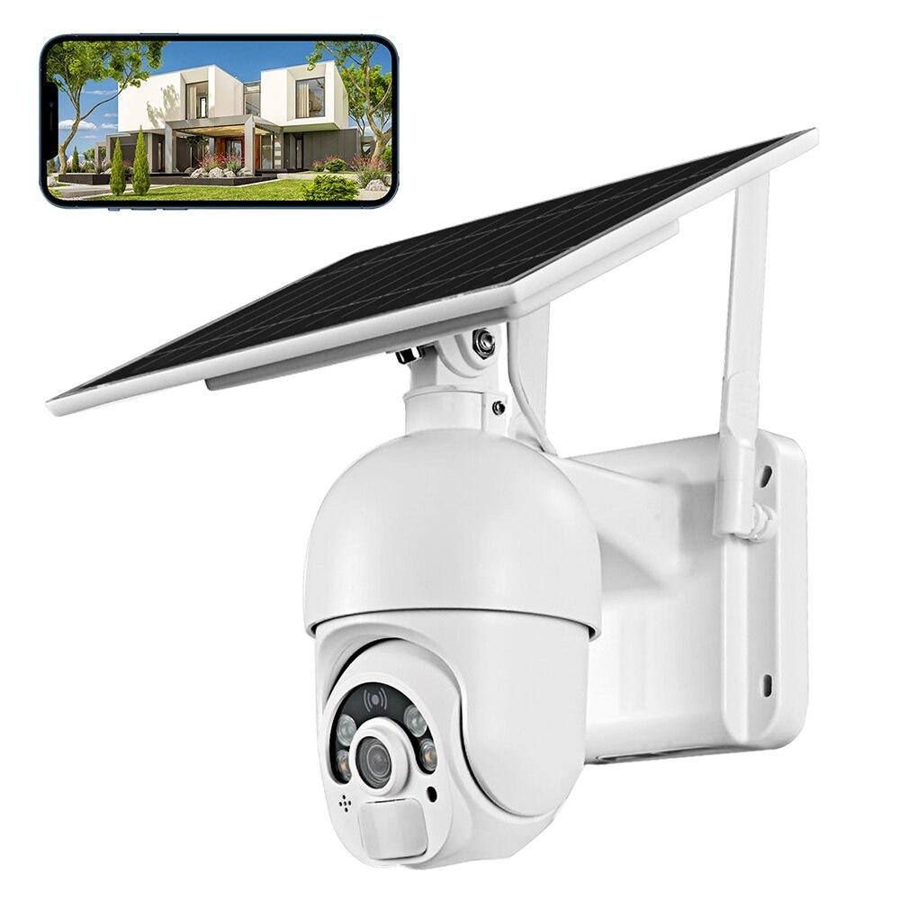 T22 الشمسية واي فاي كاميرا IP 1080P IP65 اتجاهين الصوت الأمن PIR في الهواء الطلق 2.4Ghz كاميرا متحركة لاسلكية للمنزل مكتب فناء