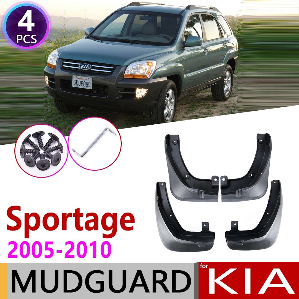 Front Rear for KIA Sportage KM 2005 2006 2007 2008 2009 2010 Car Mudflaps Fender Mud Guard Splash Flap Mudguards Accessories