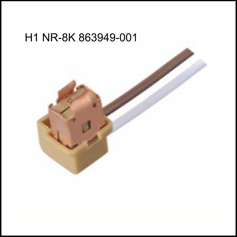 H1 NR-8K 863949-001 سيارة موصل سالب حامل مصباح التوصيل 2 دبوس السيارات مقاوم للماء المكونات تشمل محطات