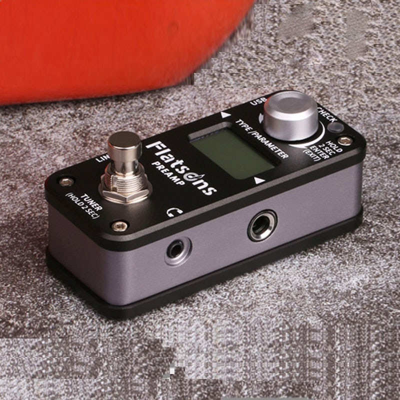 Flatsons Preamp Time Delay Pedal Guitar Processor Multi Effects Reverb Clean Overdrive Distortion Tuning Function Guitar Parts enlarge