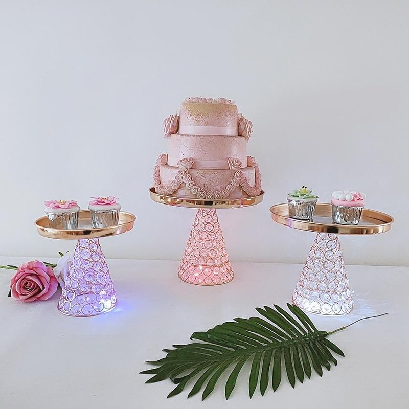 1 قطعة حامل كيك معدني كريستال مرآة كب كيك الزينة الحلوى الركيزة حفل زفاف صينية العرض
