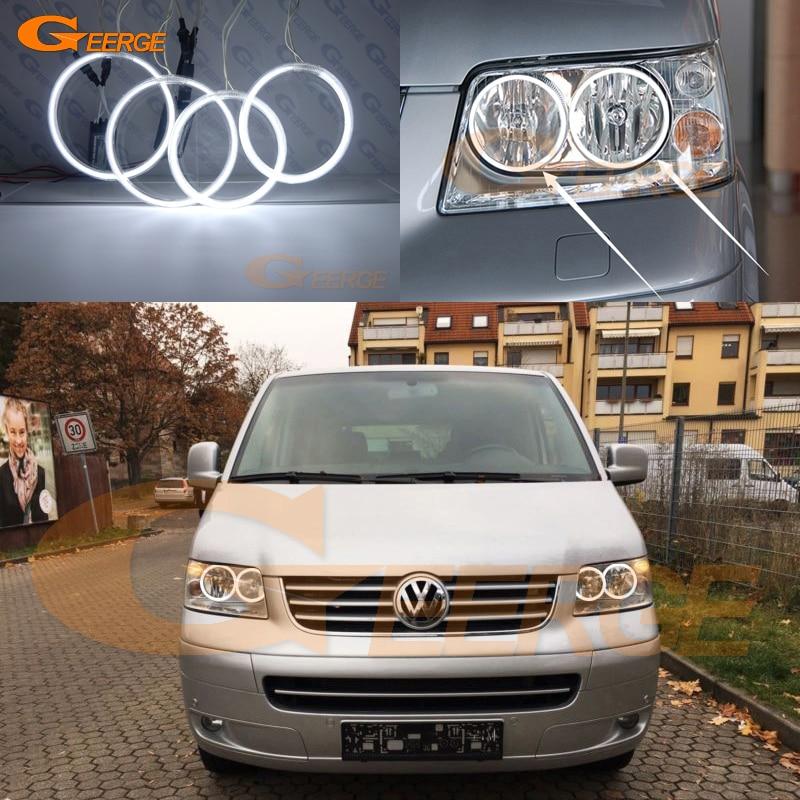 For Volkswagen VW Transporter Caravelle T5 2003-2009 Excellent Ultra bright CCFL Angel Eyes Halo Rings car Accessories brand new 2pcs door lock barrel set for vw transporter caravelle t4 1990 2003