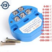 Rtd PT100 Temperatuursensor Meter Zender Geïsoleerde Detector Module-200-200 Celsuis 0-600 Celsuis 4-20MA