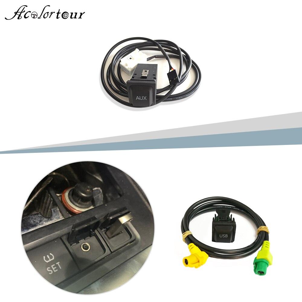 Для RCD510 RNS315 USB AUX кабель-переключатель USB аудио адаптер для VW Passat B6 B7 Golf 5 6 Jetta MK5 MK6 Polo CC USB разъем Tiguan