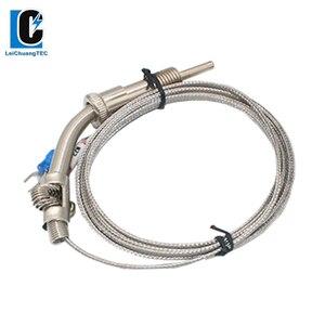 M8*1.25 M10*1.5 M12*1.5 E Type Metal Compression Spring shielded wire Thermocouple Temperature Sensor for Temperature Controller