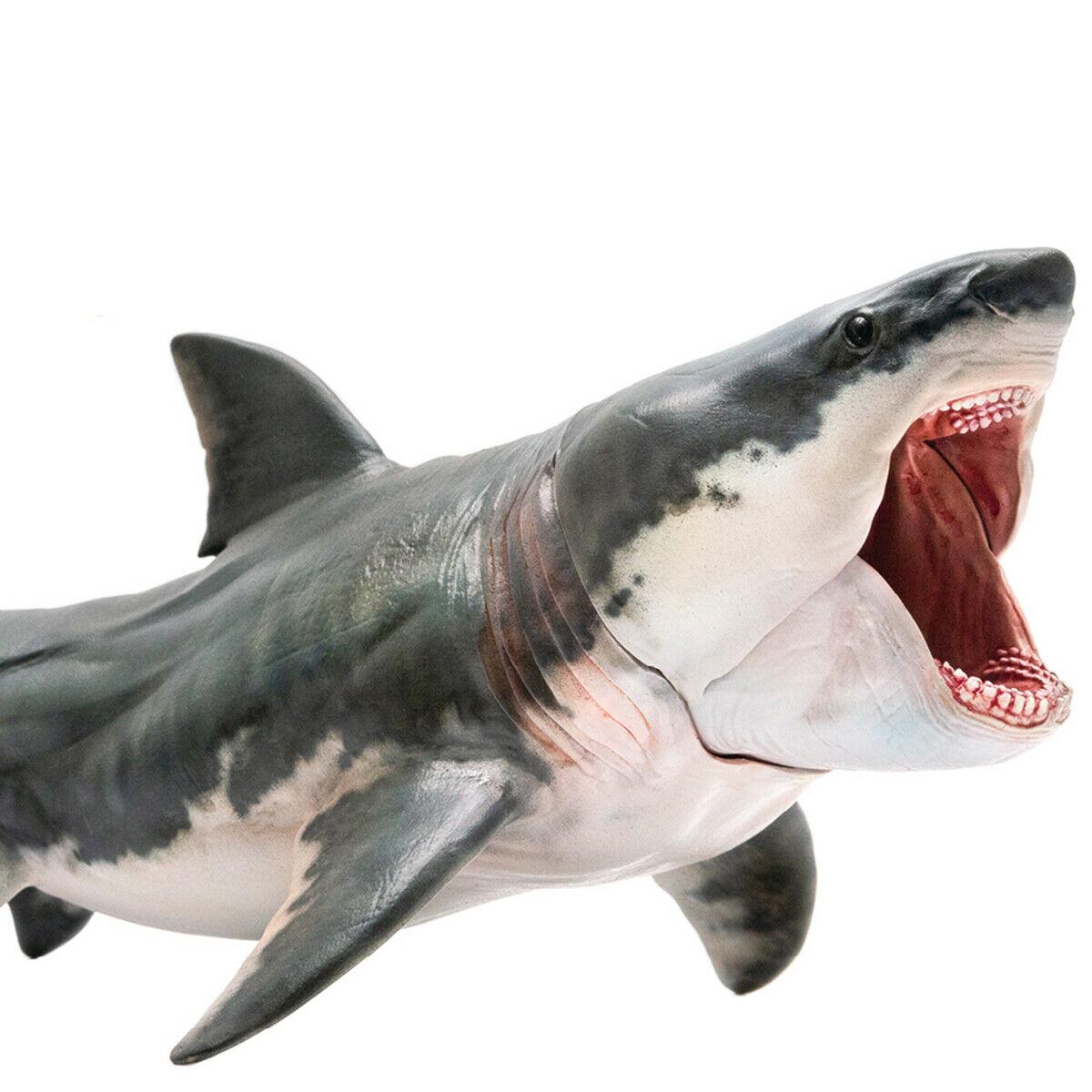 Pnso megalodon modelo figura ação tubarão pré-histórico oceano animal adulto crianças coleção ciência educação brinquedos presente decoração da sua casa