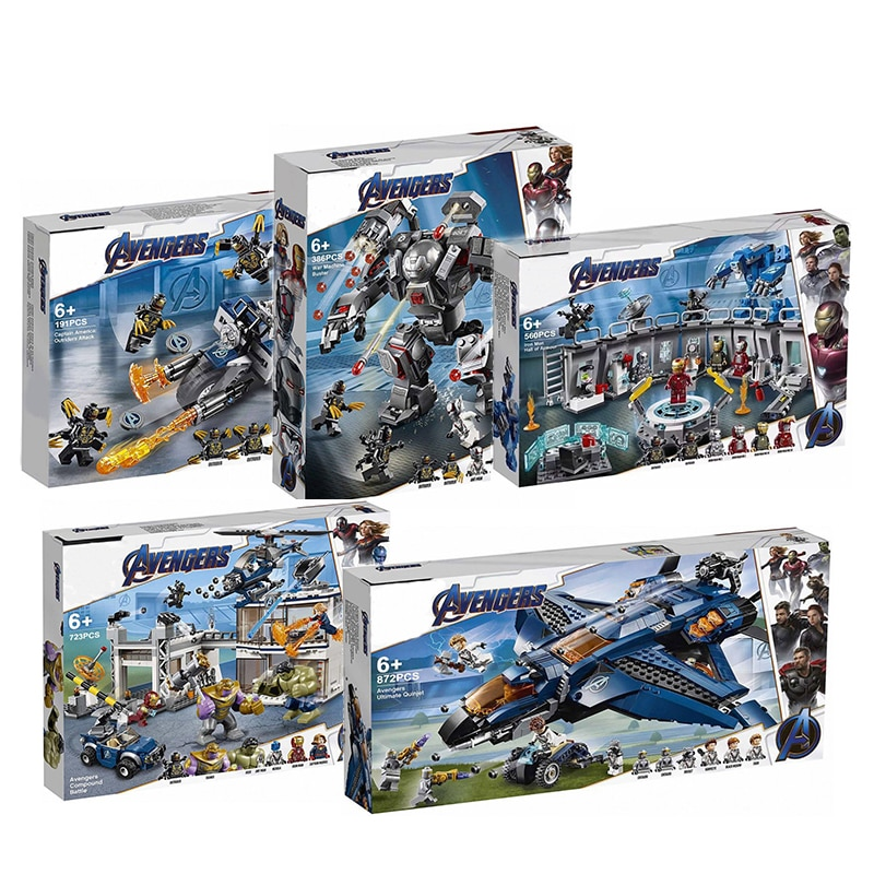 2020 Avengers 4 Endgame Ultimate Quinjet Set 76107 76108 76123 76124 76126 76131 bloques de construcción ladrillos juguetes para niños