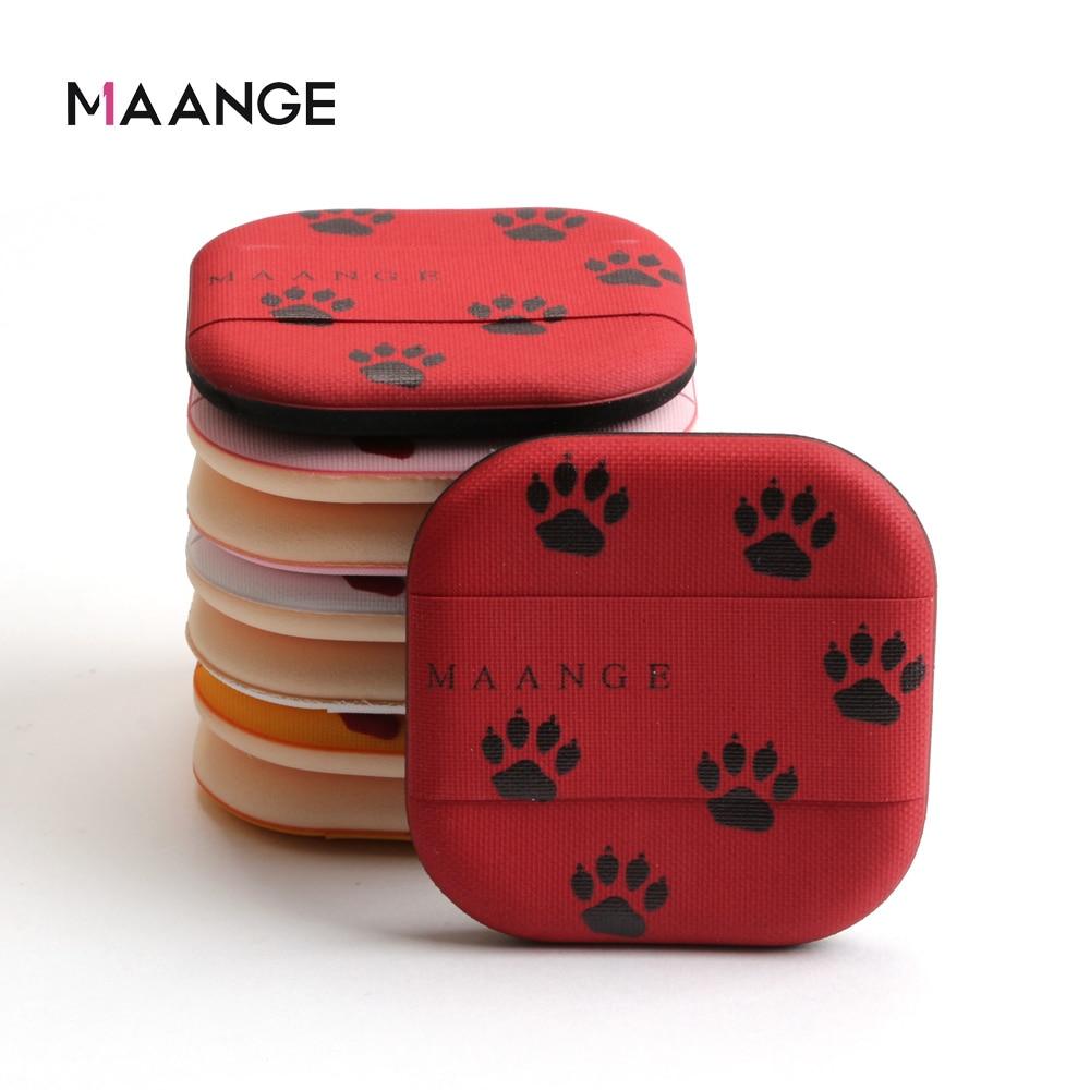 MAANGE 8 unids/caja gato garra aire cojín maquillaje Puffs base corrector de polvo suelto esponja soplo suave herramienta de maquillaje cosmético suave