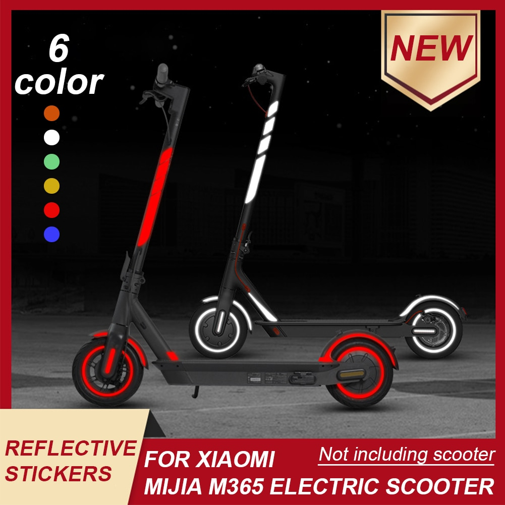 AliExpress - Waterproof Reflective Stickers Electric Scooter Waterproof Warning Sticker for Xiaomi Mijia M365 Electric Scooter Accessories