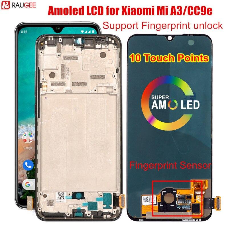 شاشة LCD لـ Xiaomi Mi A3 ، شاشة Amoled أصلية ، فتح ، محول رقمي ، تم اختبارها ، بديل لشاومي Mi A3 CC9e ، عالمي