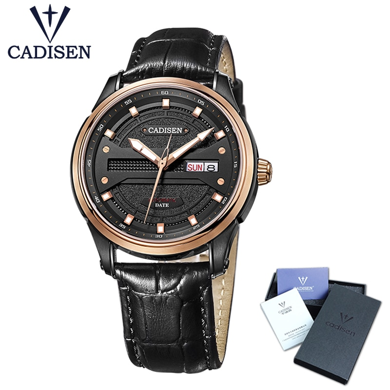 Cadisen Men Watches 2019 Top Brand Luxury Famous Male Clock Leather strap Automatic Watch fashion Wrist watch Relogio Masculino enlarge