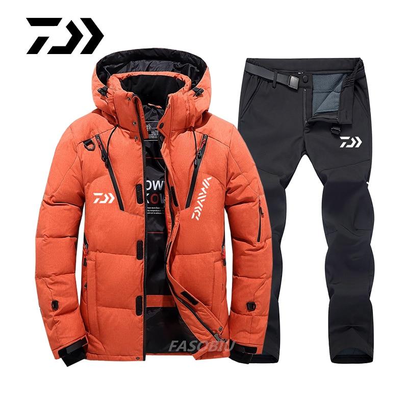 Daiwa Fishing Suit Men's Women's Outdoor Fishing Clothes Winter Plush Thickened Warm Sports Mountaineering Skiing Fishing Jacket enlarge