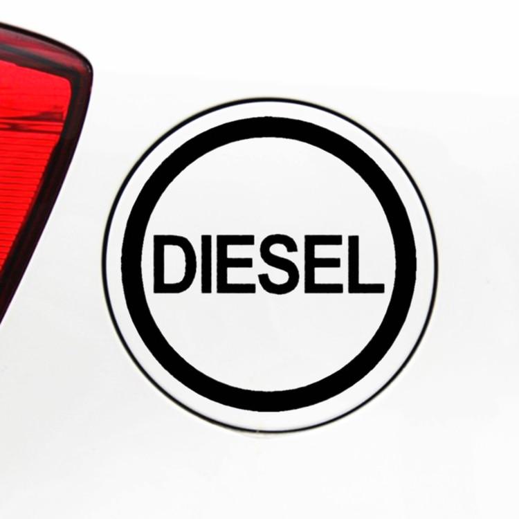 Pegatinas de decoración creativas divertidas de diésel relleno de Auto stickrs para tapa de tanque de combustible Auto Tuning Stylling Vinyls D40