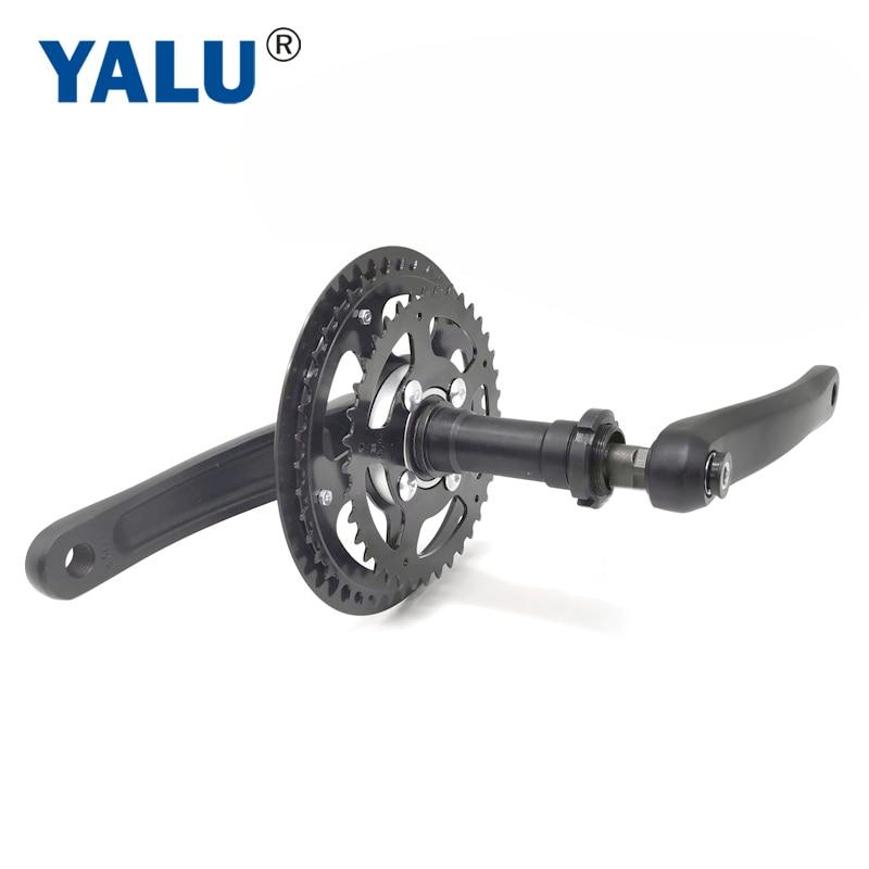 مجموعة كرنك للدراجة الكهربائية ، مجموعة محرك مركزي ، دراجة جبلية ، سواعد عجلة حرة ، عجلة سلسلة كهربائية مع قابض