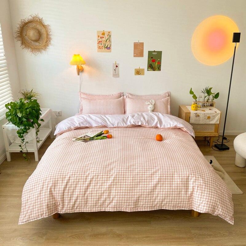 اليابانية حاف مجموعة غطاء 210x210 المخدة 3 قطعة ، 220x240 غطاء لحاف ، اضافية كبيرة ، الوردي طقم سرير