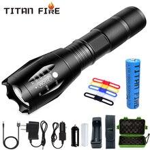 Linterna Led T20 Q250 linterna ultrabrillante T6/L2/V6 con zoom 5 modos TL360 resistente al agua luz de mano Luz de bicicleta