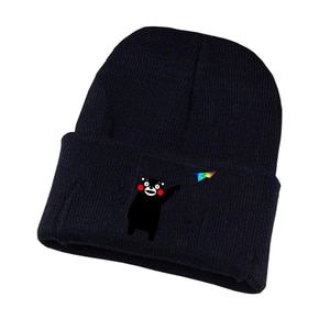 Anime Kumamon Knitted Hat Cosplay Hat Unisex Print Adult Casual Cotton Hat Teenagers Winter Knitted Cap